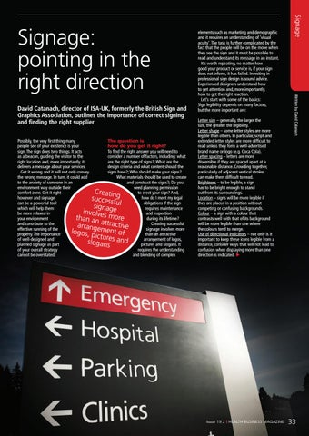 Page 33 of Signage: pointing in the right direction