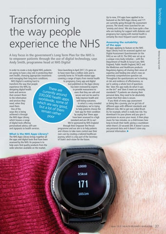 Page 37 of Transforming the way people experience the NHS