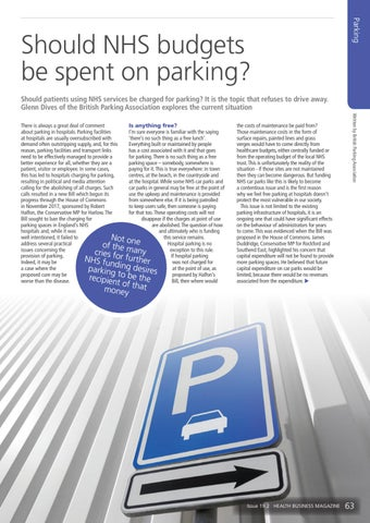 Page 63 of Should NHS budgets be spent on parking?
