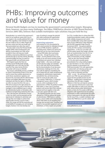 Page 85 of PHBs: Improving outcomes and value for money