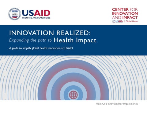 Innovation Realized: Expanding the Path to Health Impact by USAID