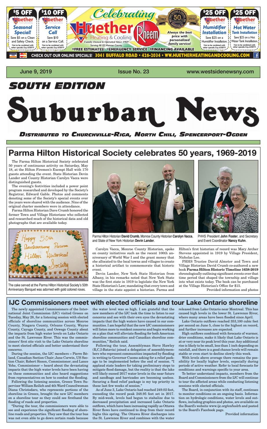 Suburban News South Edition – June 9, 2019 by Westside News