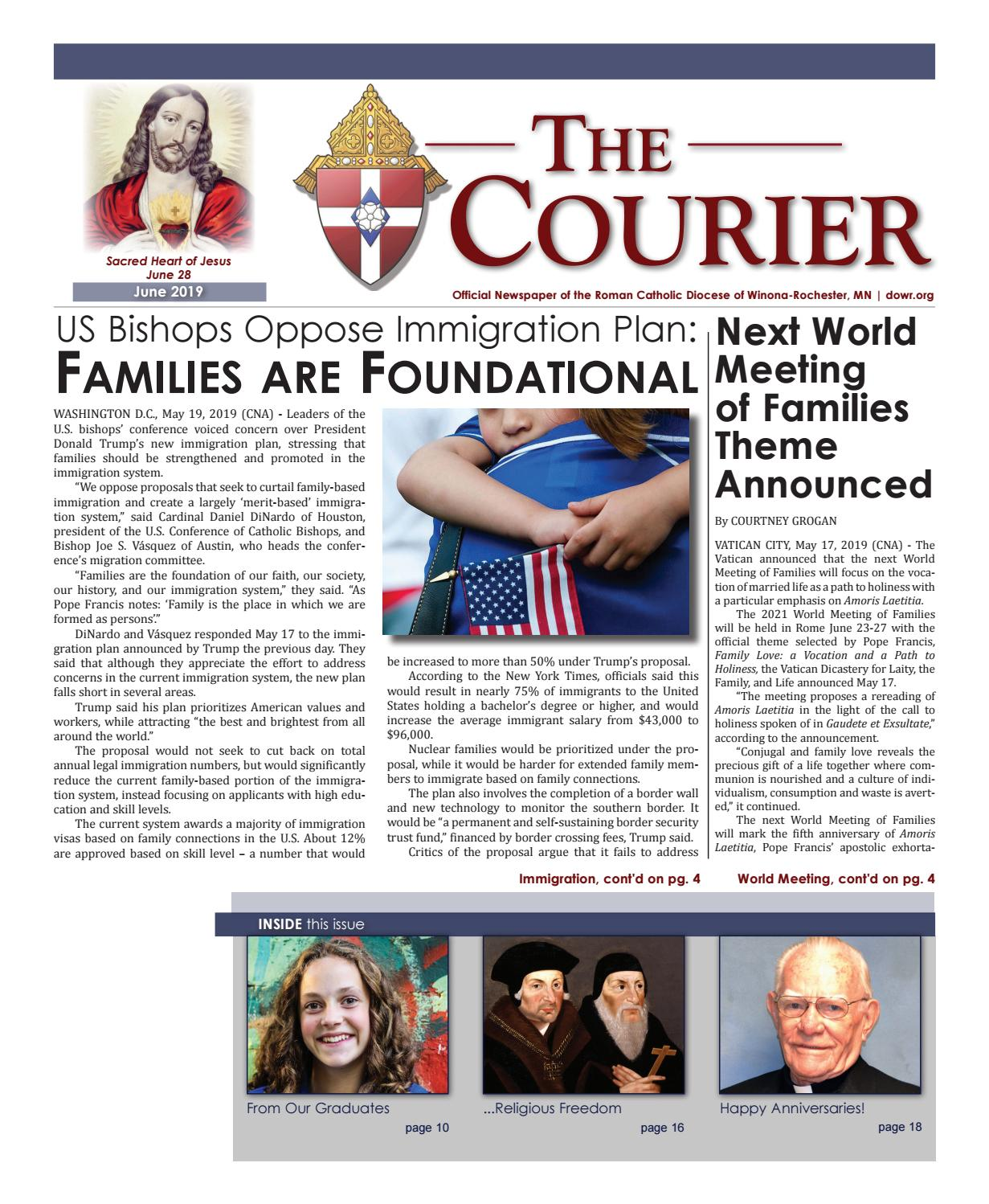 The Courier - June 2019 by Diocese of Winona-Rochester - issuu