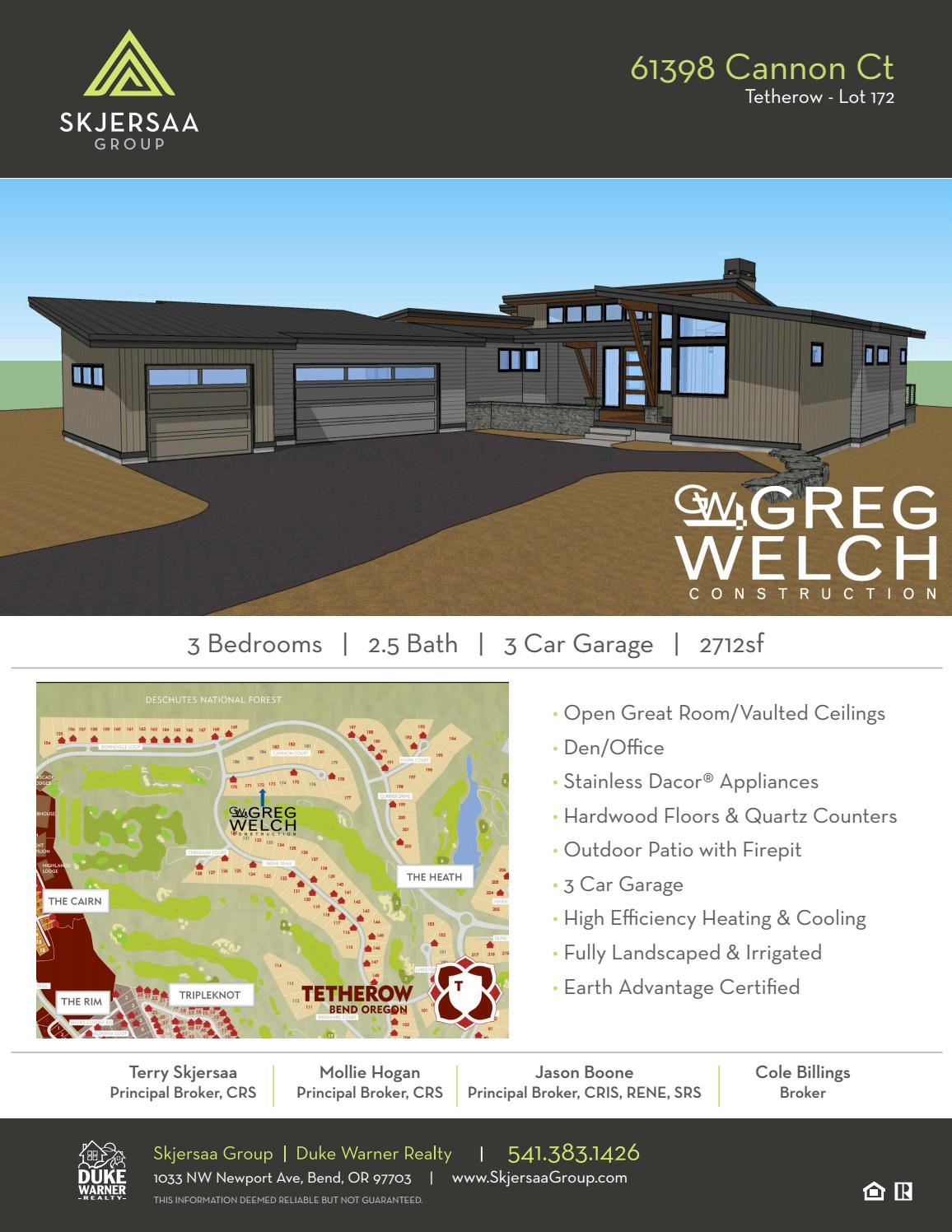 61398 Cannon Ct - Tetherow Lot 172 by Duke Warner Realty - issuu