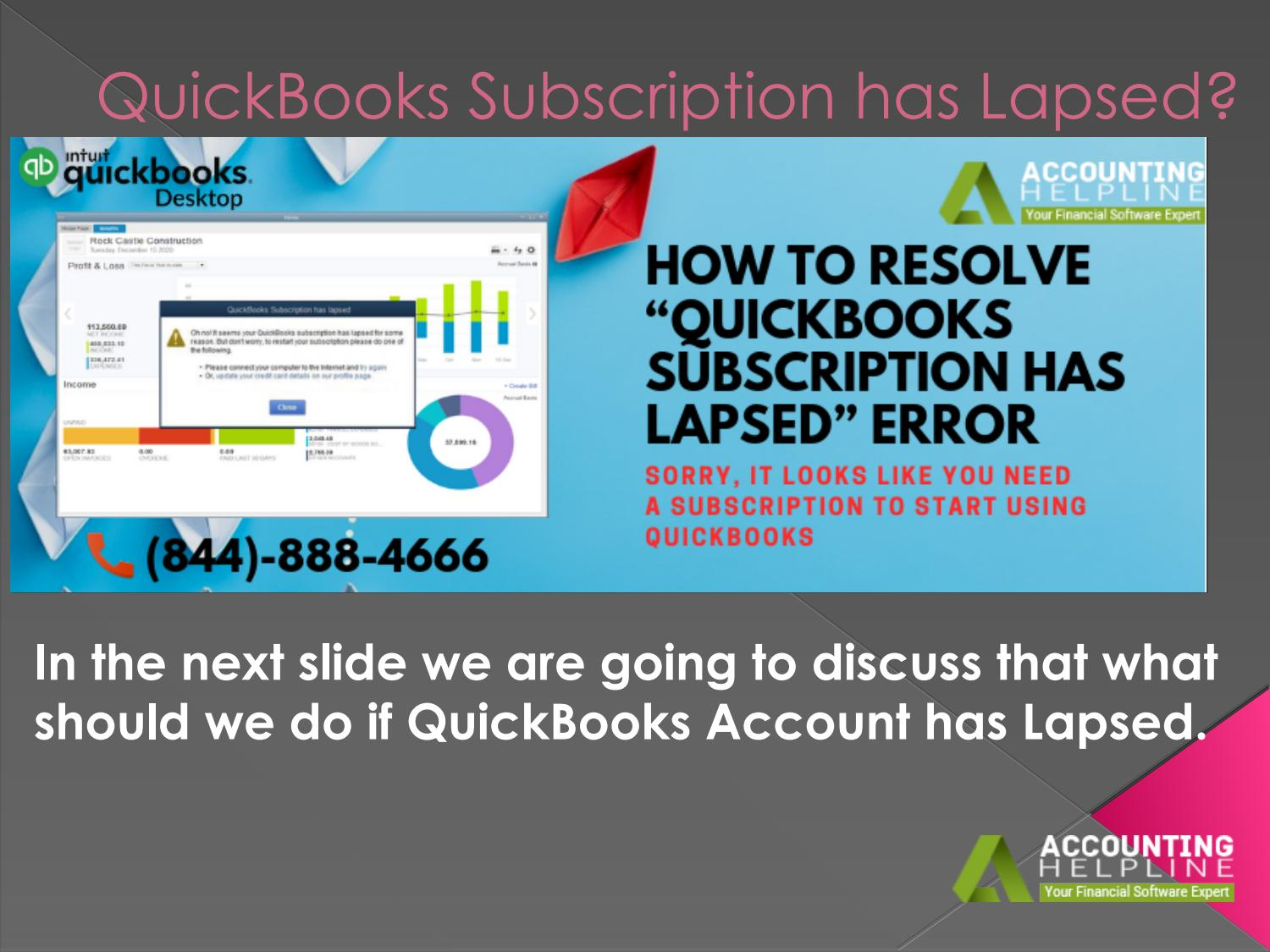 QuickBooks subscription has lapsed? Easy Steps to Fix It by