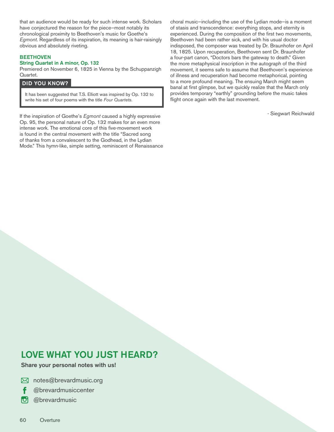 2019 BMC Overture Magazine by Brevard Music Center - issuu