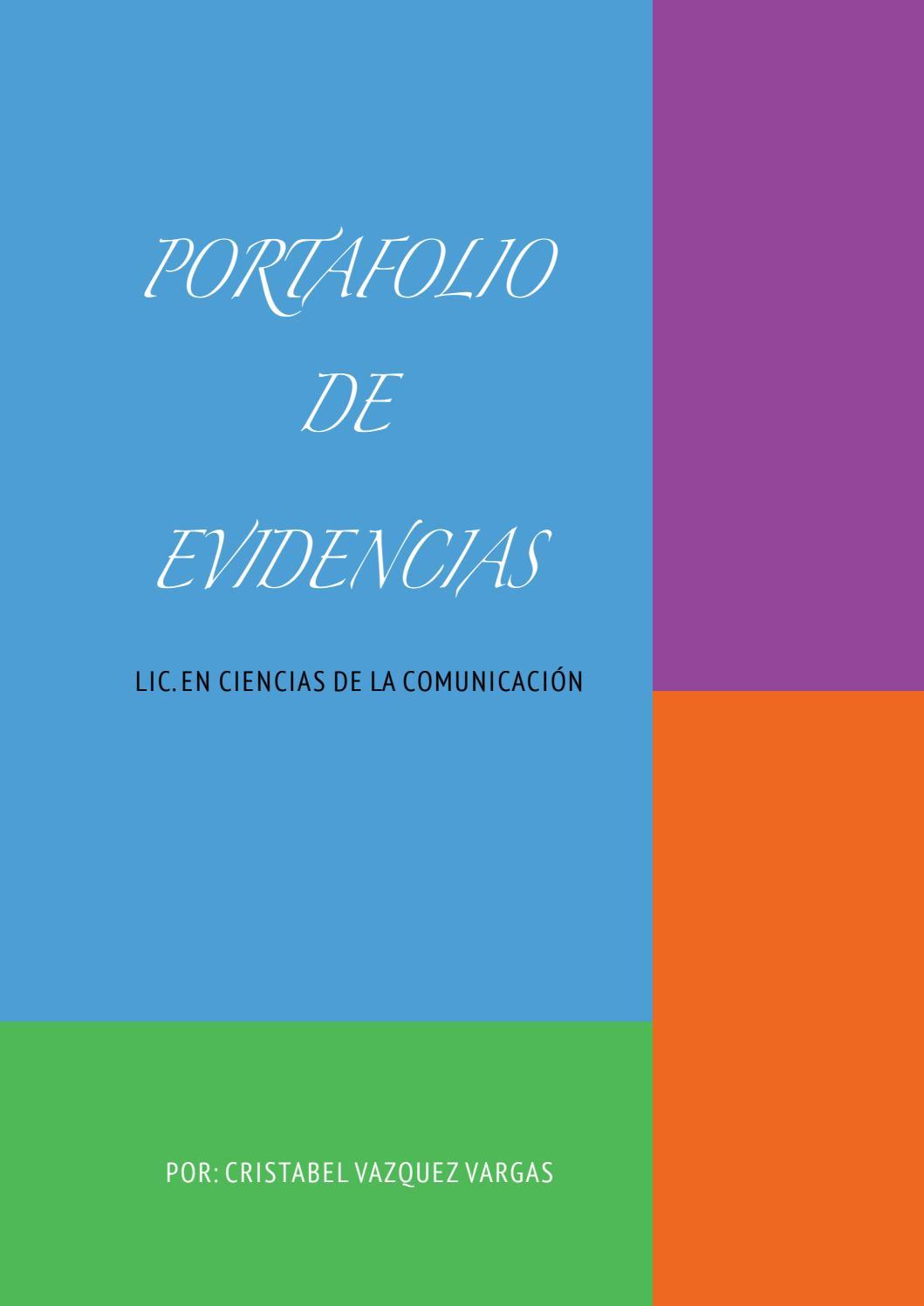 Libro Portafolio De Evidencias Cristabel Vazquez Vargas By