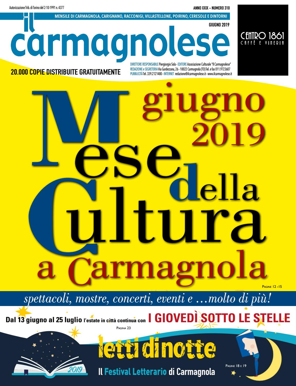 Centro Del Materasso Carmagnola.Il Carmagnolese Giugno 2019 By Redazione Il Carmagnolese Issuu