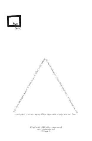 Kwartalnik Kontent 9 By Kontent Kwartalnik Issuu