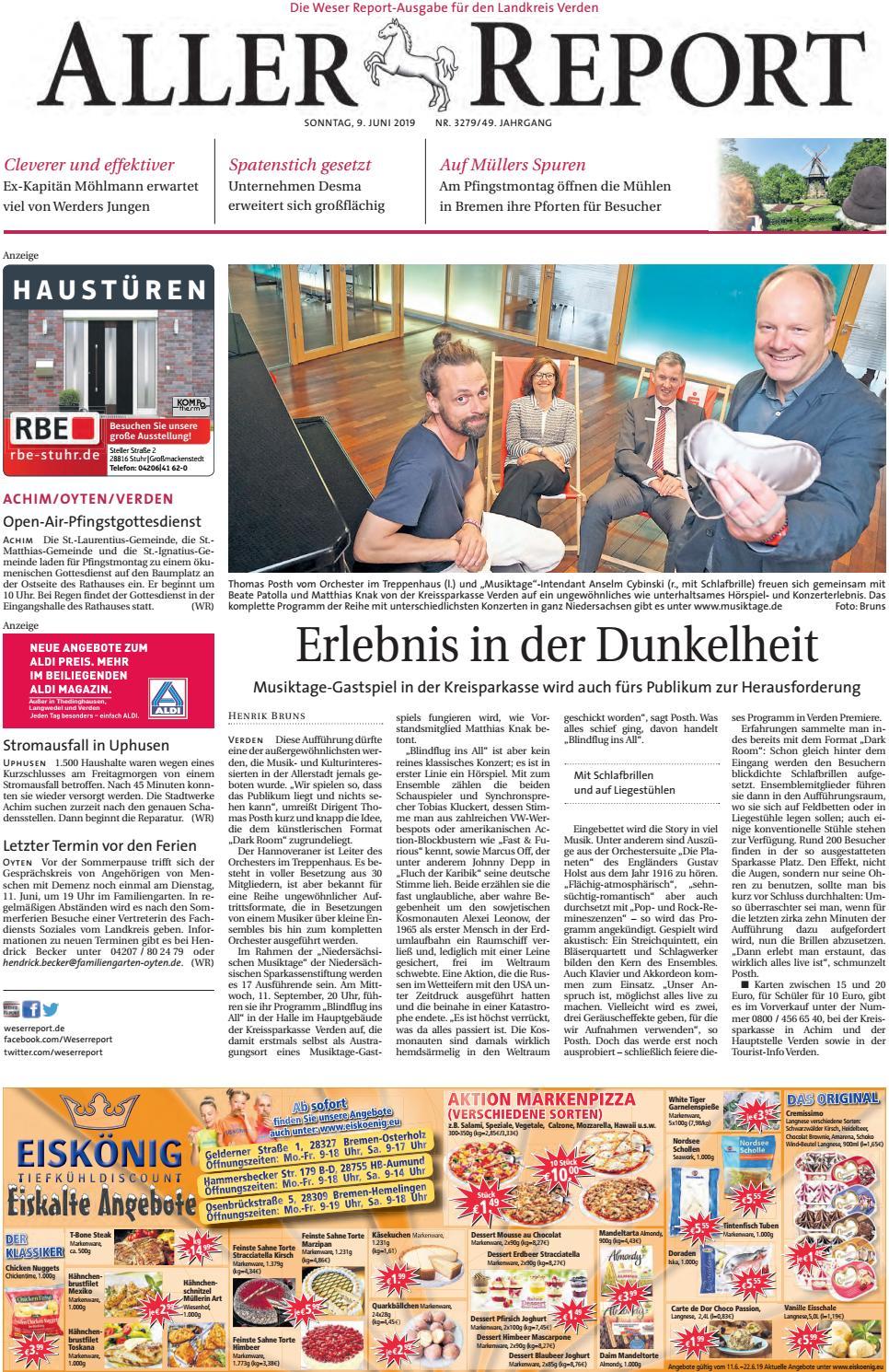 Aller Report vom 09.06.2019 by KPS Verlagsgesellschaft mbH - issuu