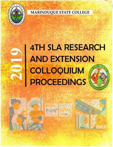 4th SLA colloquium proceedings by Jean Makisig - issuu
