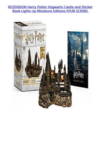 Harry Potter Hogwarts Castle and Sticker Book Lights Up!