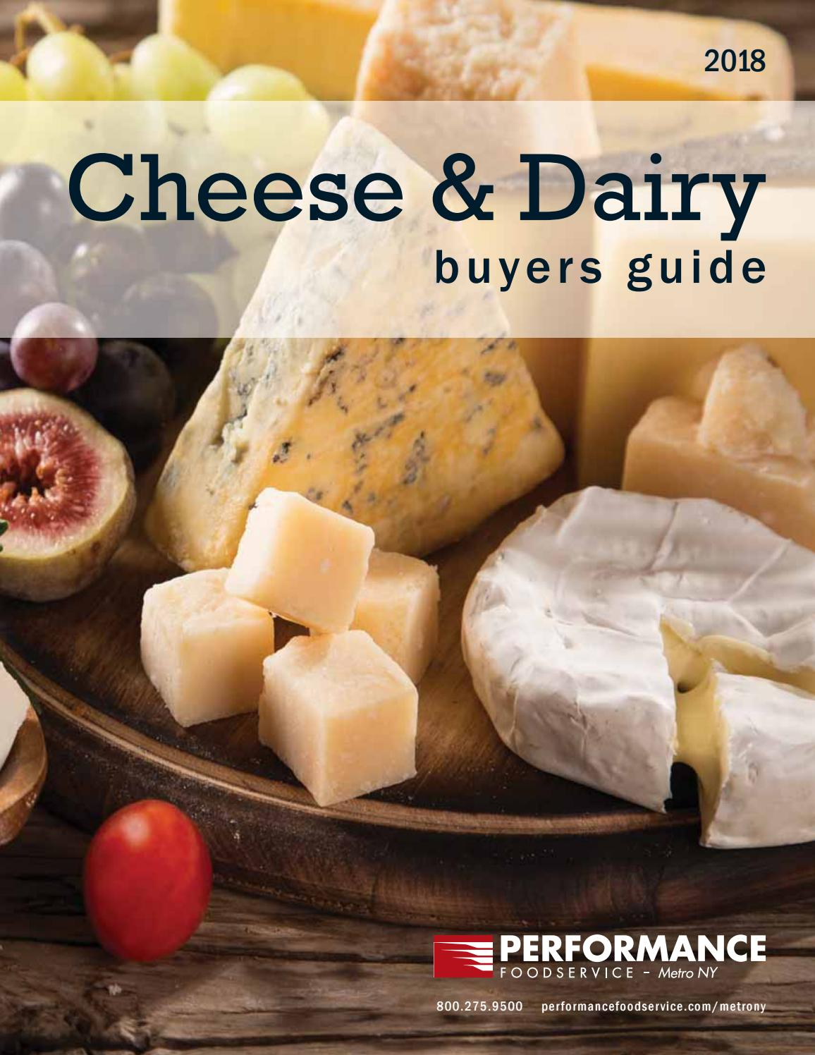 Cheese & Dairy Buyers Guide: Performance Foodservice - Metro