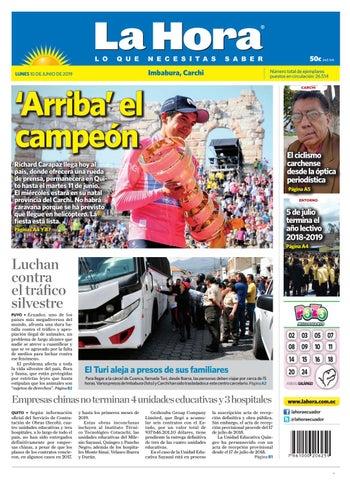 cb3d3b102 Imbabura - Carchi, 10 de Junio del 2019 by Diario La Hora Ecuador ...