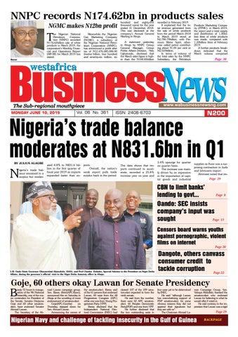 Westafrica Businessnews Monday June10 2019 By