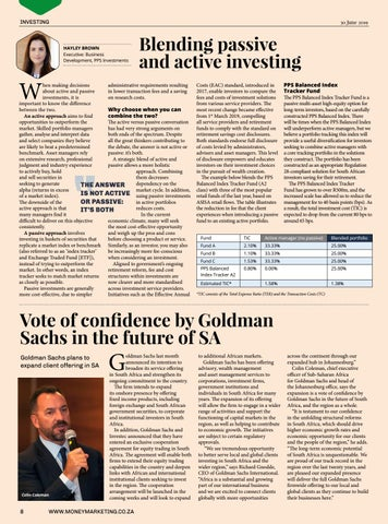 Page 8 of Vote of confidence by Goldman Sachs in the future of SA