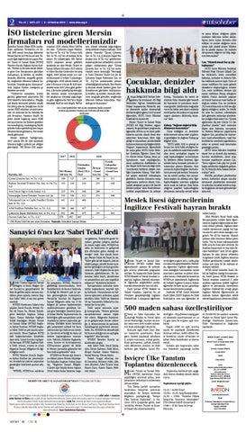 Page 2 of İSO listelerine giren Mersin firmaları rol modellerimizdir.