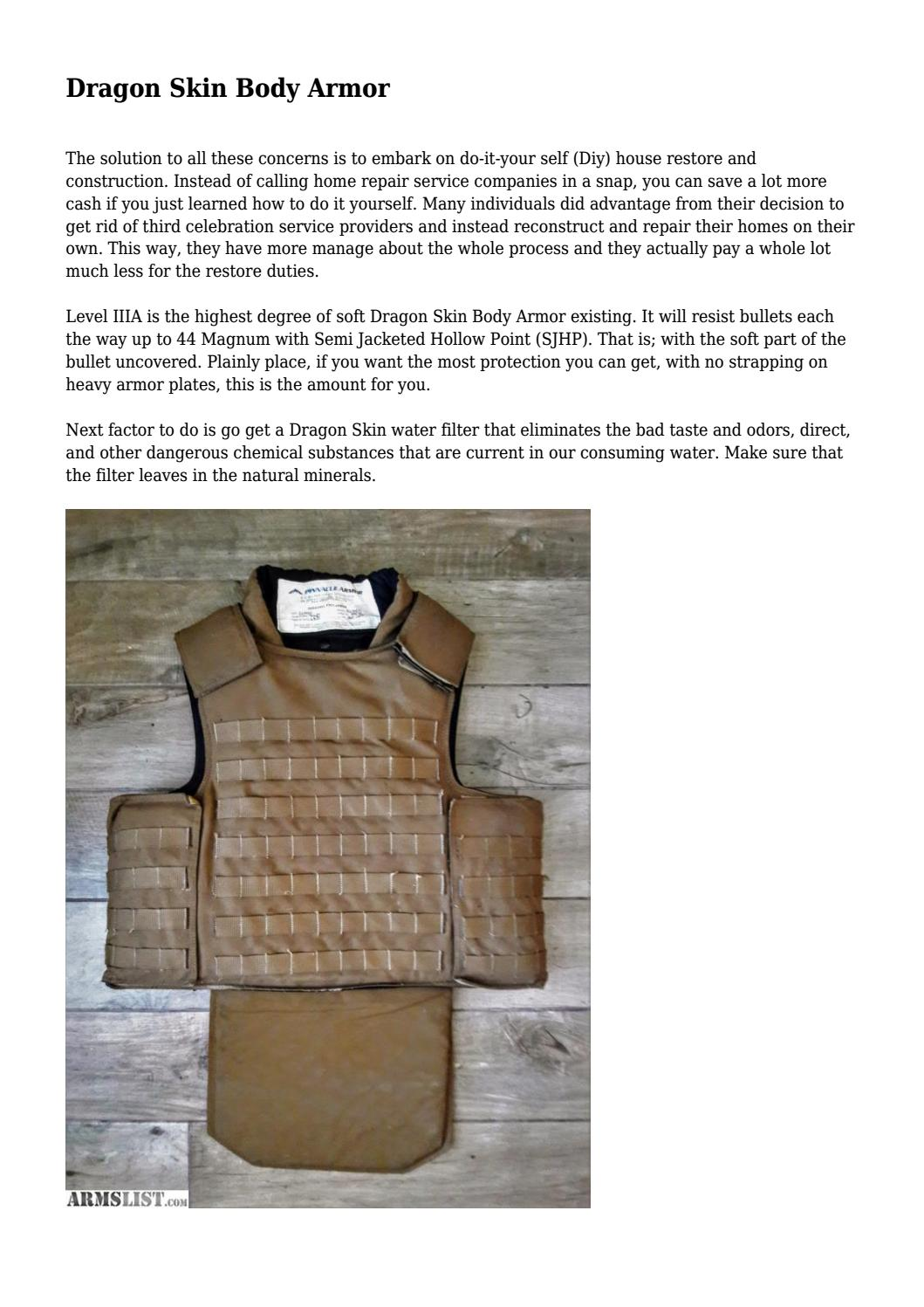 Dragon Skin Body Armor By Brandonhoward748 Issuu 3 what is dragon skin armor? dragon skin body armor by
