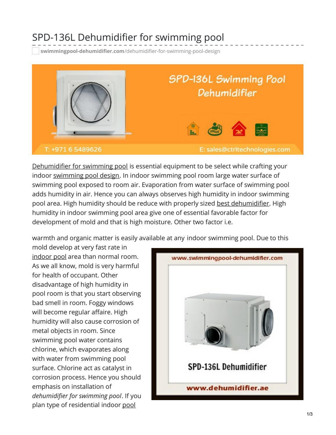 SPD-136L Dehumidifier for swimming pool ...