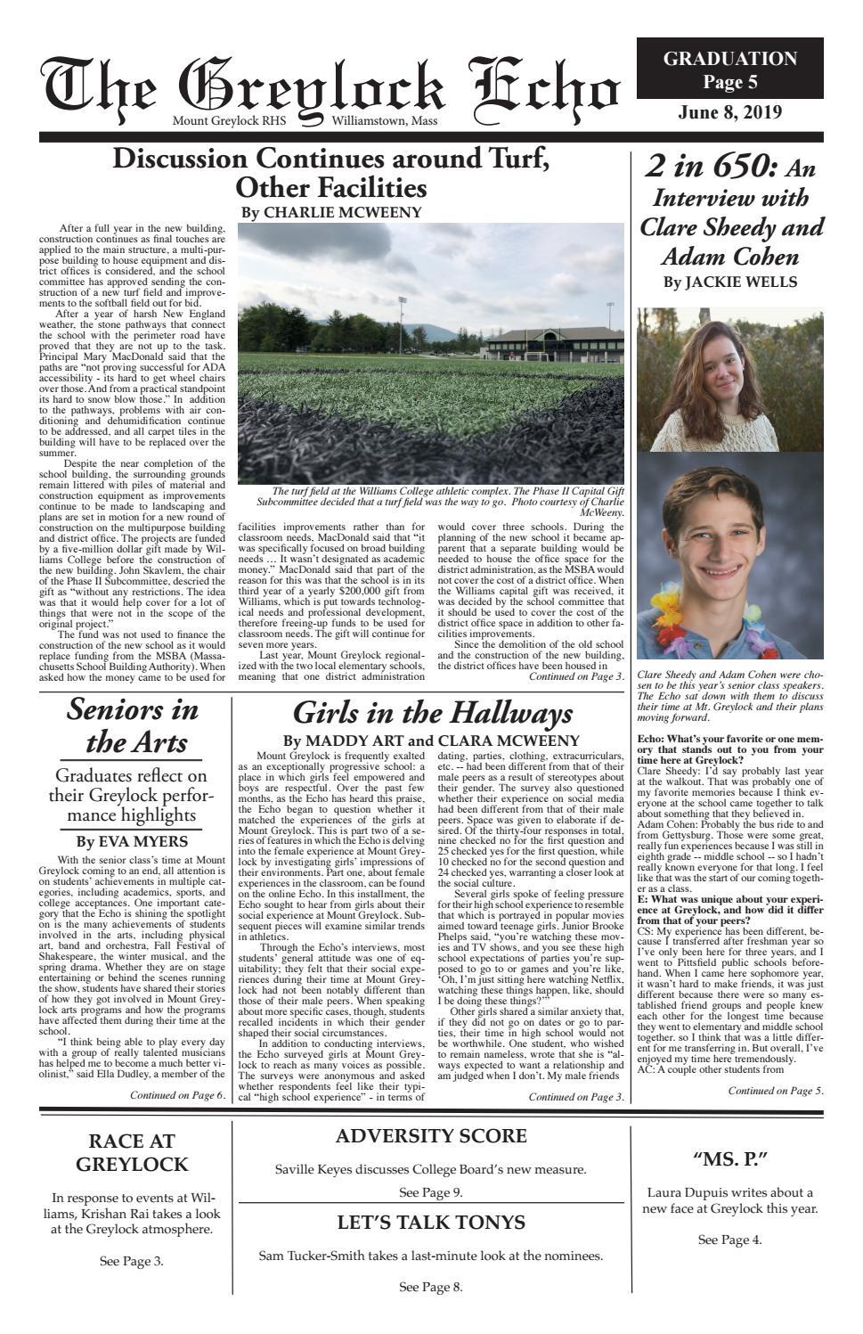 The Greylock Echo: Graduation Issue by mountgreylockecho - issuu