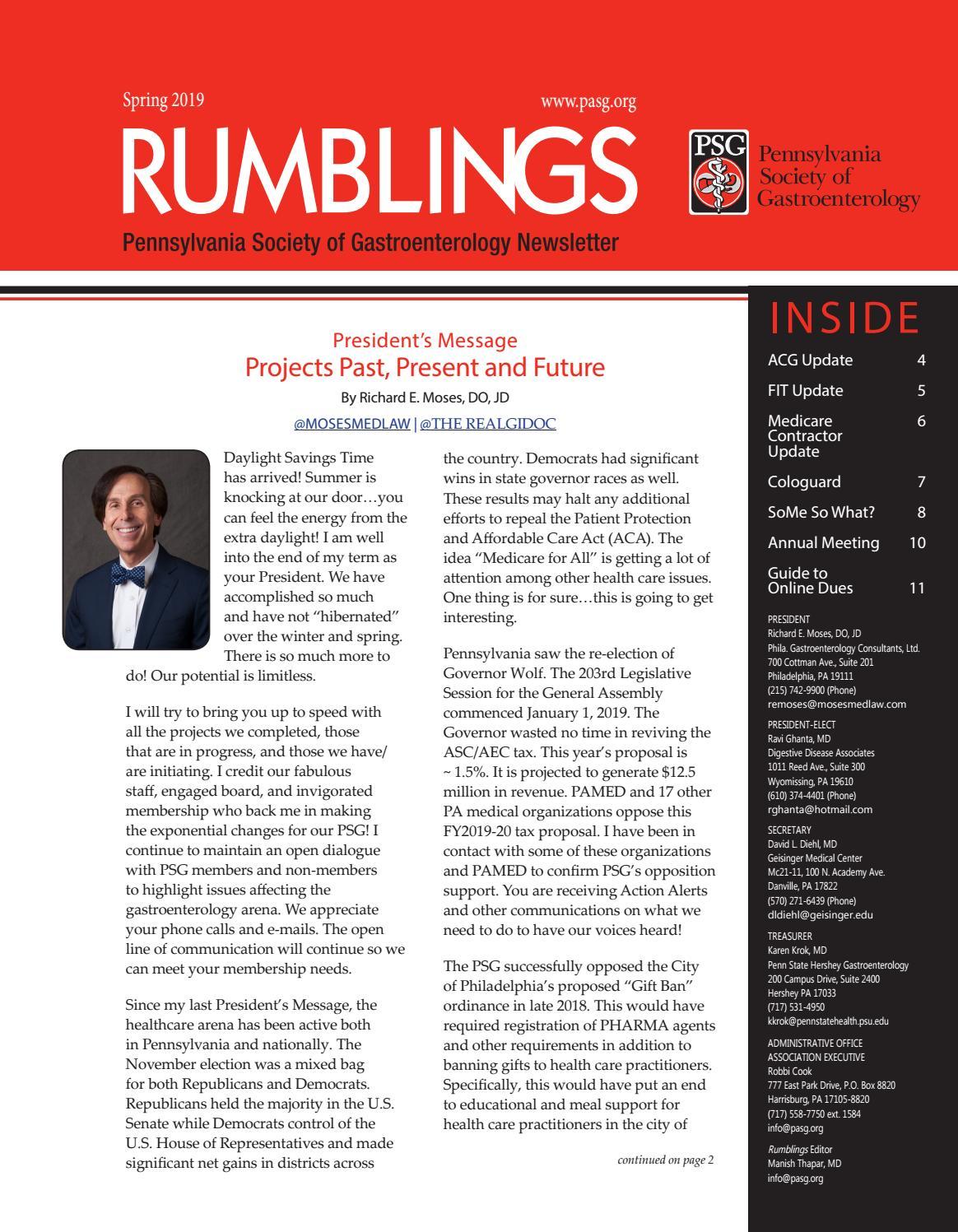 PSG Rumblings - Spring 2019 by SSMS - issuu