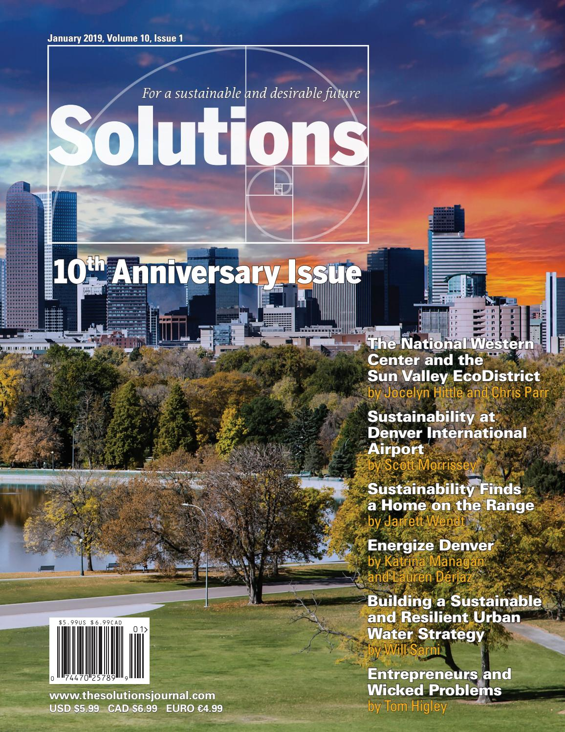 Solutions Volume 10 Issue 1 By The Solutions Journal Issuu