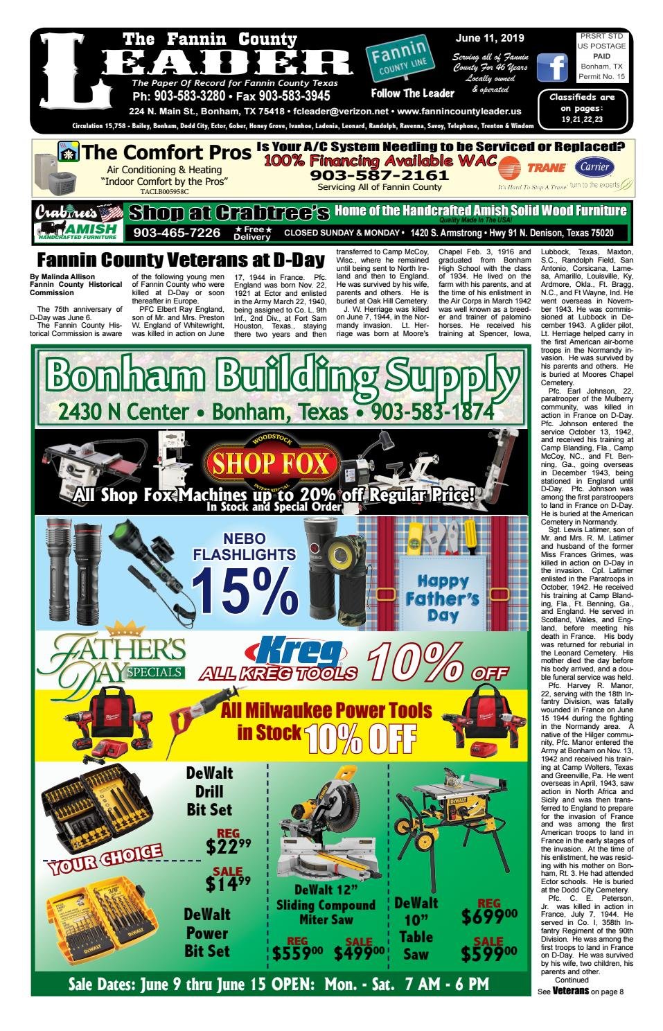 6-11-19 Leader E-Edition by The Fannin County Leader - issuu