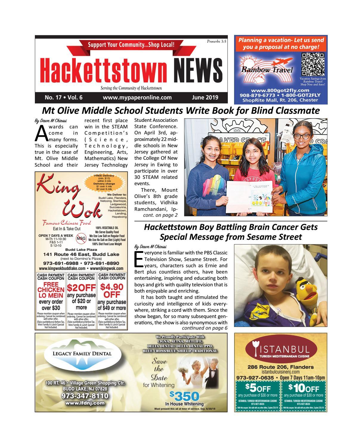 Hackettstown June 2019 by My Life Publications  Maljon LLC