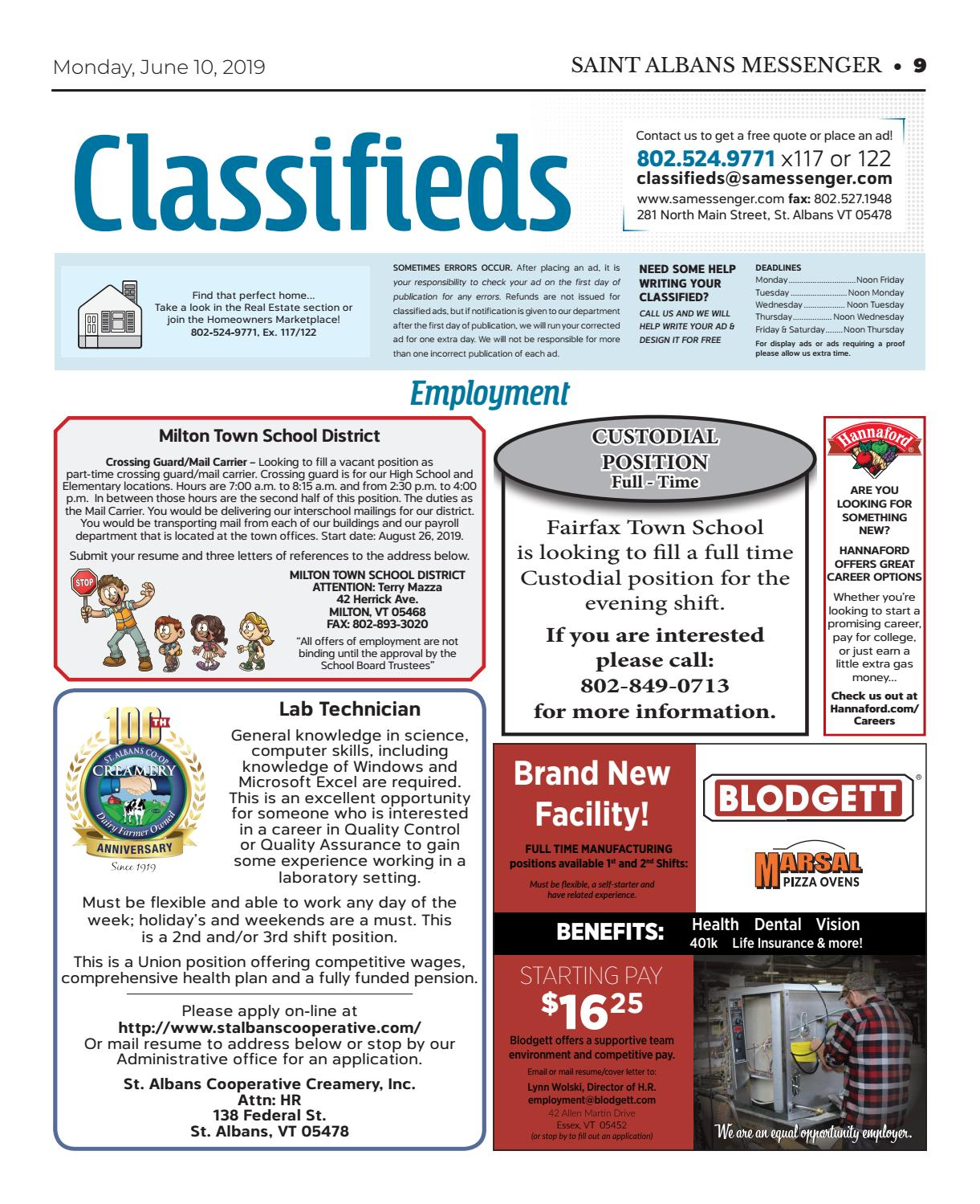 6 10 19 Classifieds By St Albans Messenger Issuu