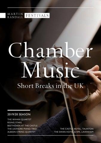 Chamber Music Short Breaks in the UK (2019/2020 season) by