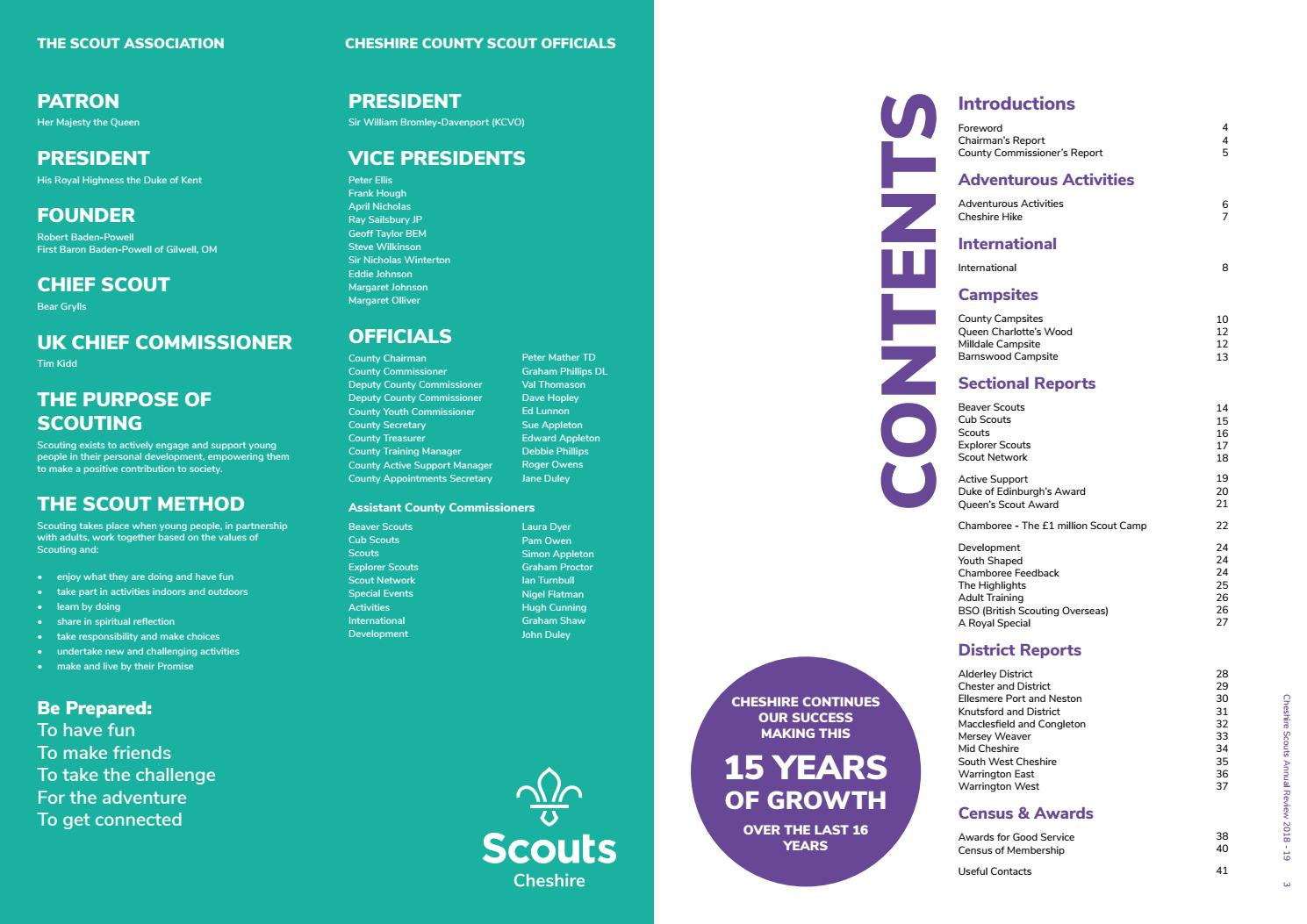 Cheshire Scouts Annual Review 2018-2019 by Cheshire Scouts