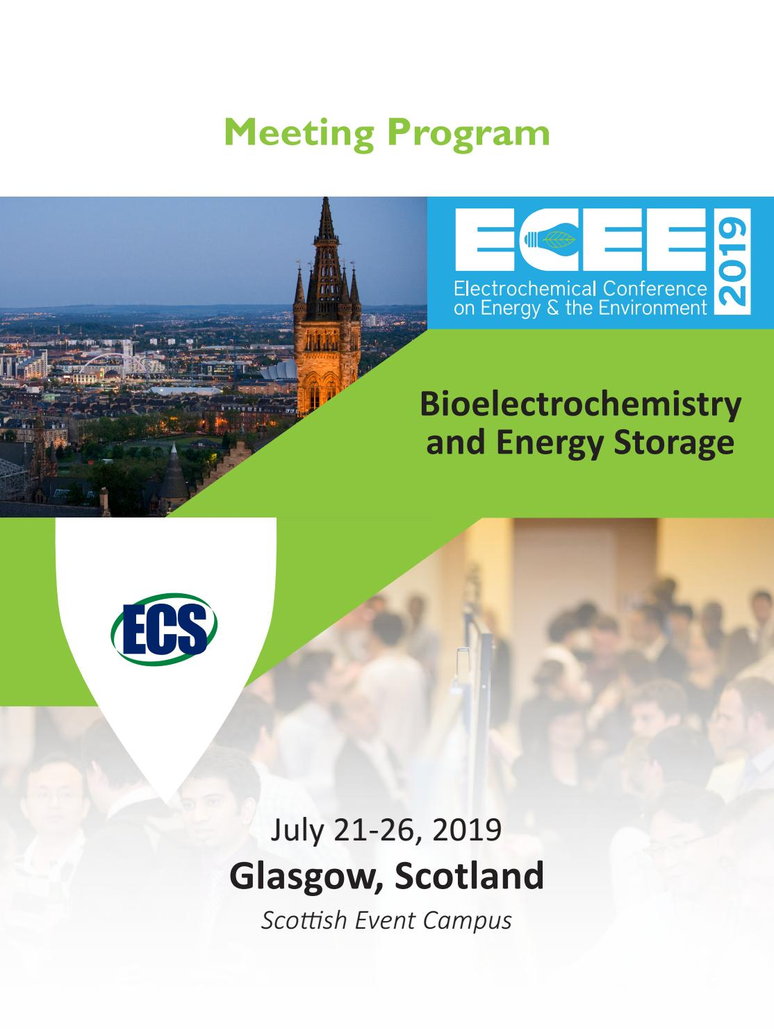 ECEE 2019-Bioelectrochemistry and Energy Storage Meeting Program by