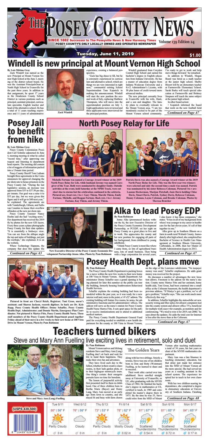 June 11, 2019 - The Posey County News by The Posey County News - issuu