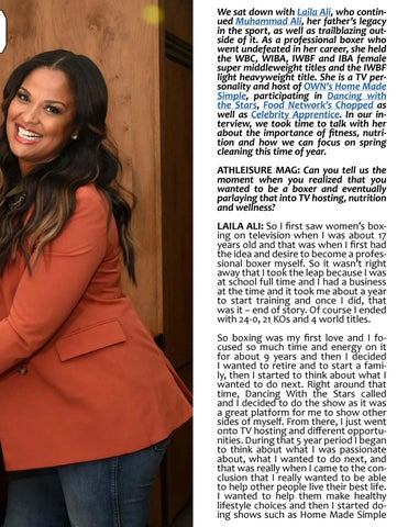 Page 41 of ATHLEISURE MAG MAY 2019 | The Undefeated with Laila Ali