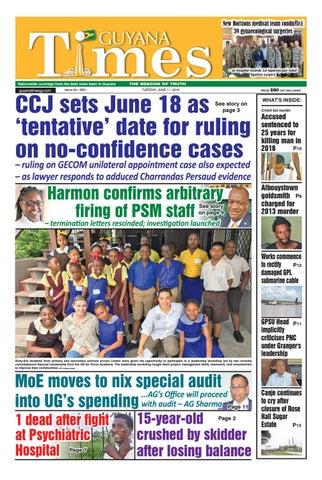 Guyana Times, Tuesday 11, June 2019 by Gytimes - issuu