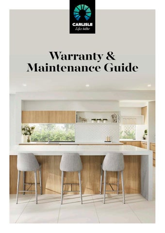 Warranty & Maintenance Guide by Carlisle Homes - issuu