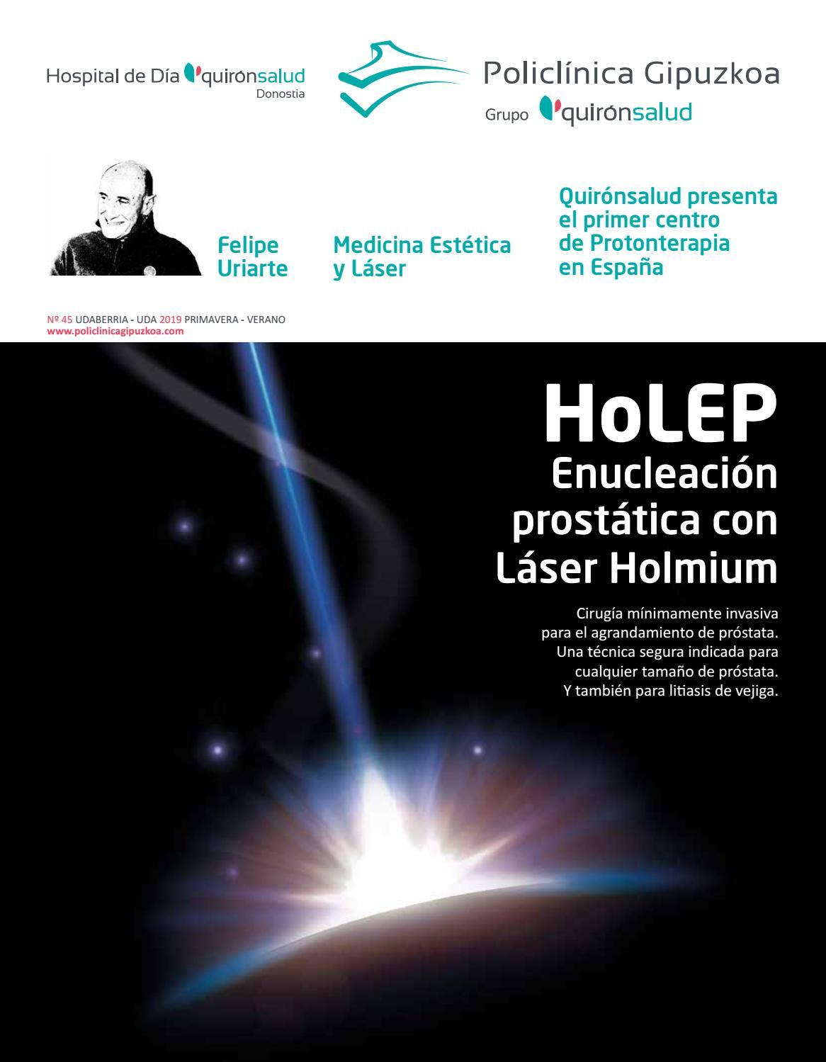 hospital bari urología próstata depilación láser