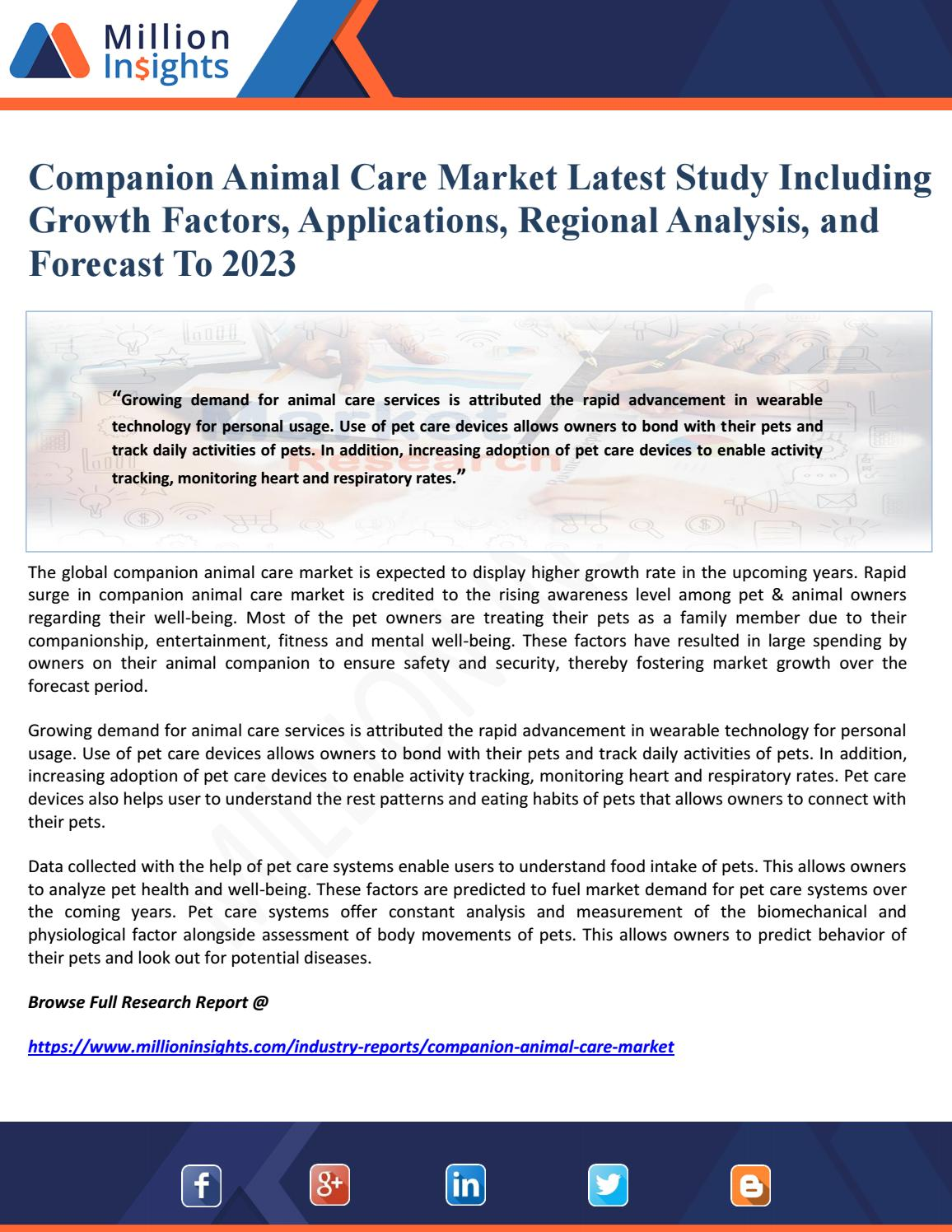 Pet services industry growth