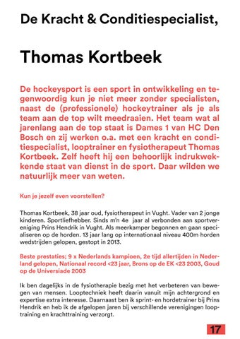 Page 17 of Strength & Conditioning Coach, Thomas Kortbeek