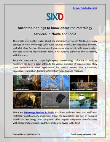Metrology Services in Noida