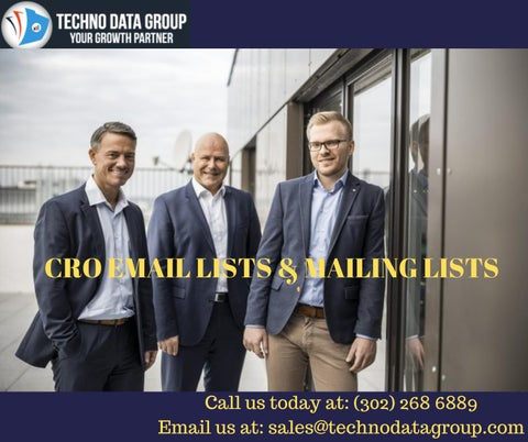CRO Email Lists & Mailing Lists | Chief Revenue Officer