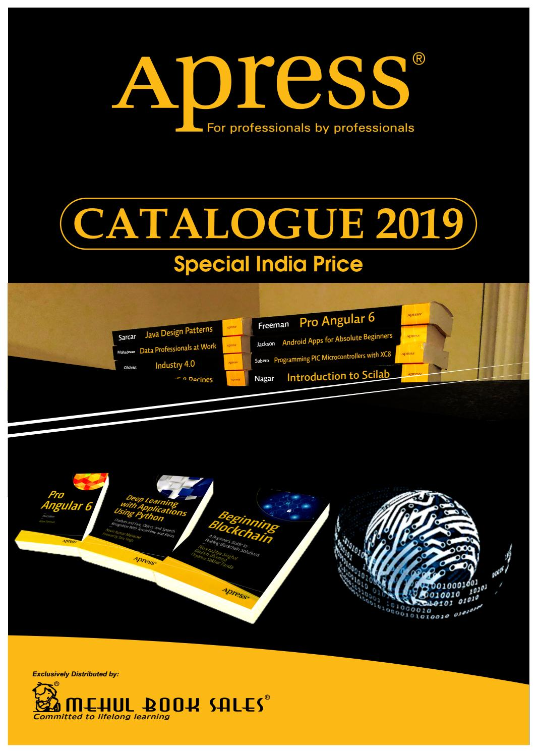 APRESS -INDIA SPECIAL PRICE CATALOG 2019 by Madhu Pillai - issuu
