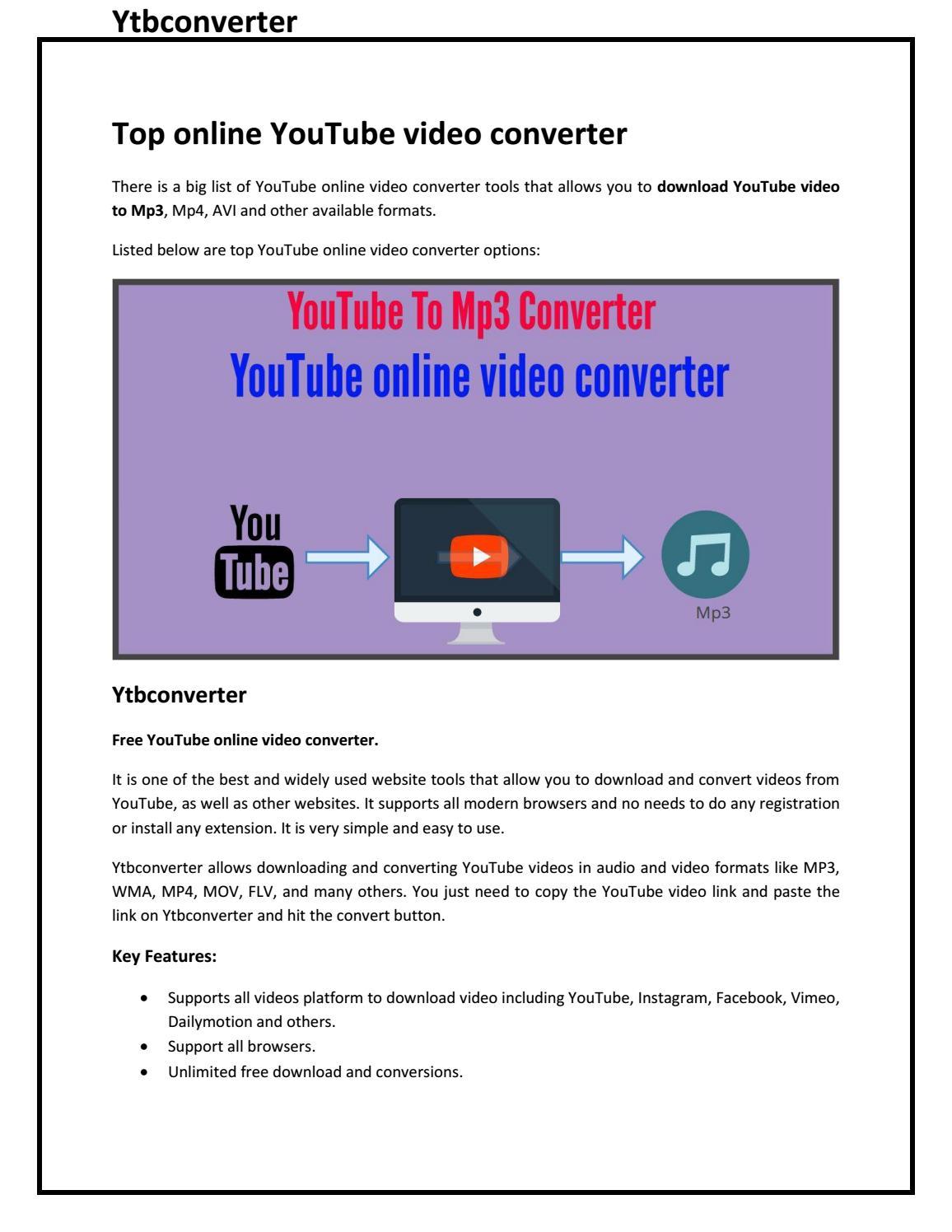Top online YouTube video converter by akshaytrank - issuu
