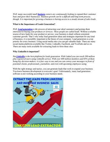 LinkedIn Lead Extractor by ahmadsoftwaretechnologies - issuu