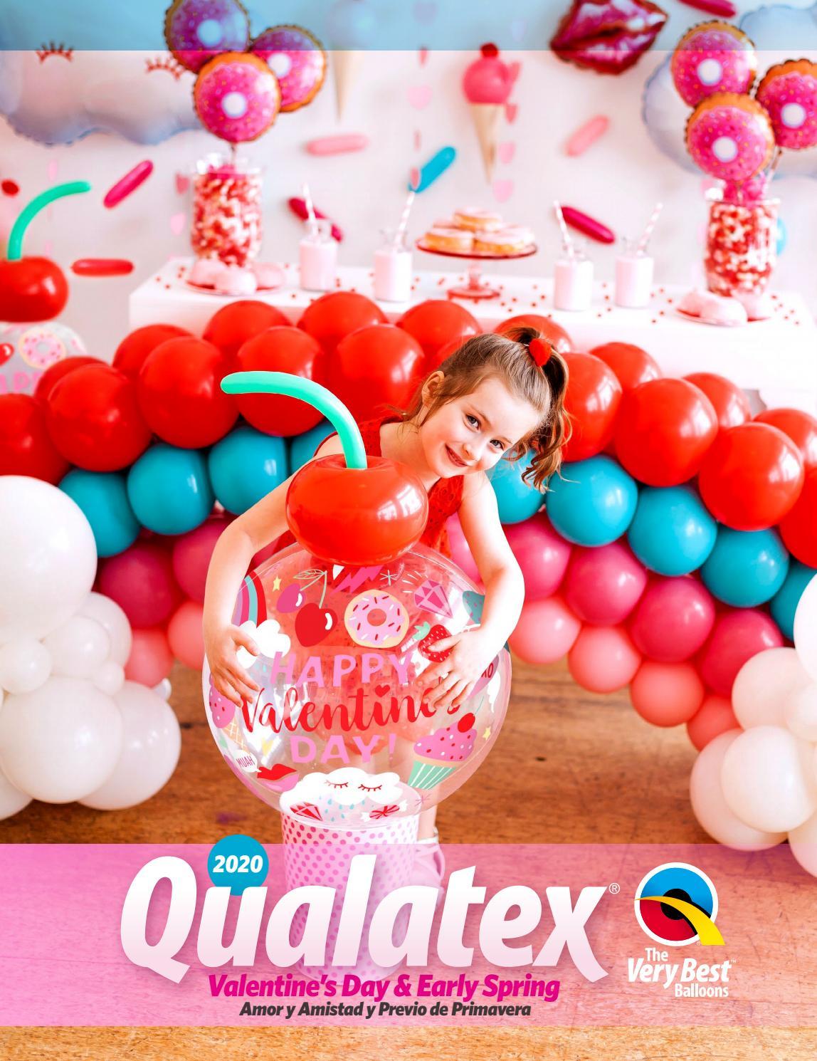 "Geo Donut 16/"" Spring Assorted Qualatex Balloons x 5"