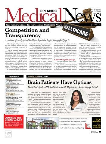 Orlando Medical News June 2019 by Orlando Medical News - issuu