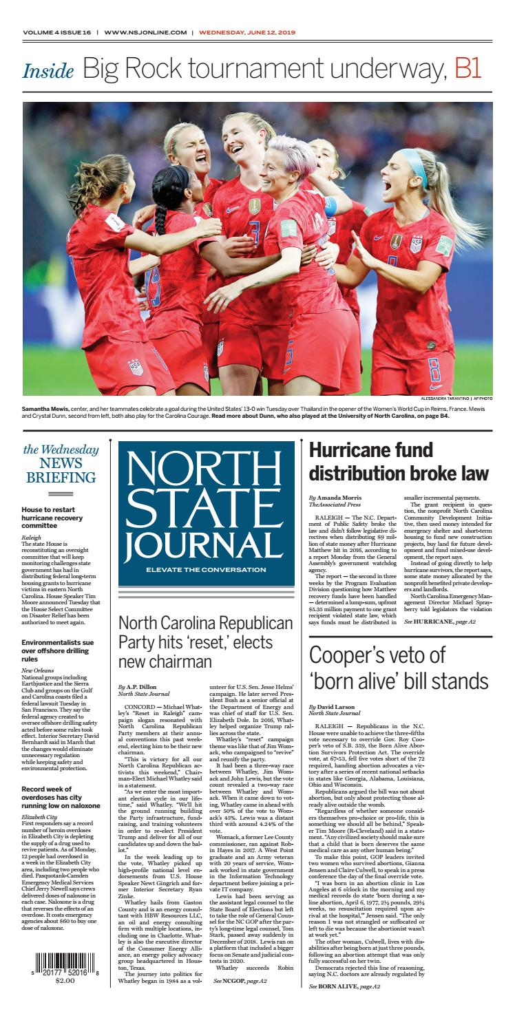 North State Journal Vol. 4, Issue 16 by North State Journal