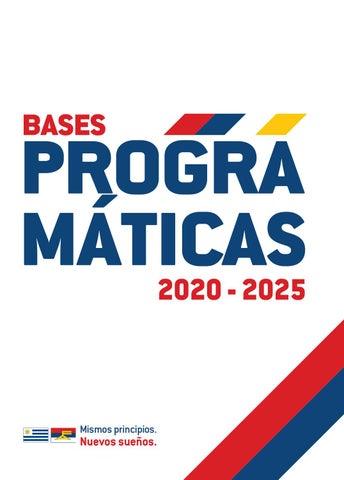 Frente Amplio Bases Programáticas 2020 2025 By Periódico