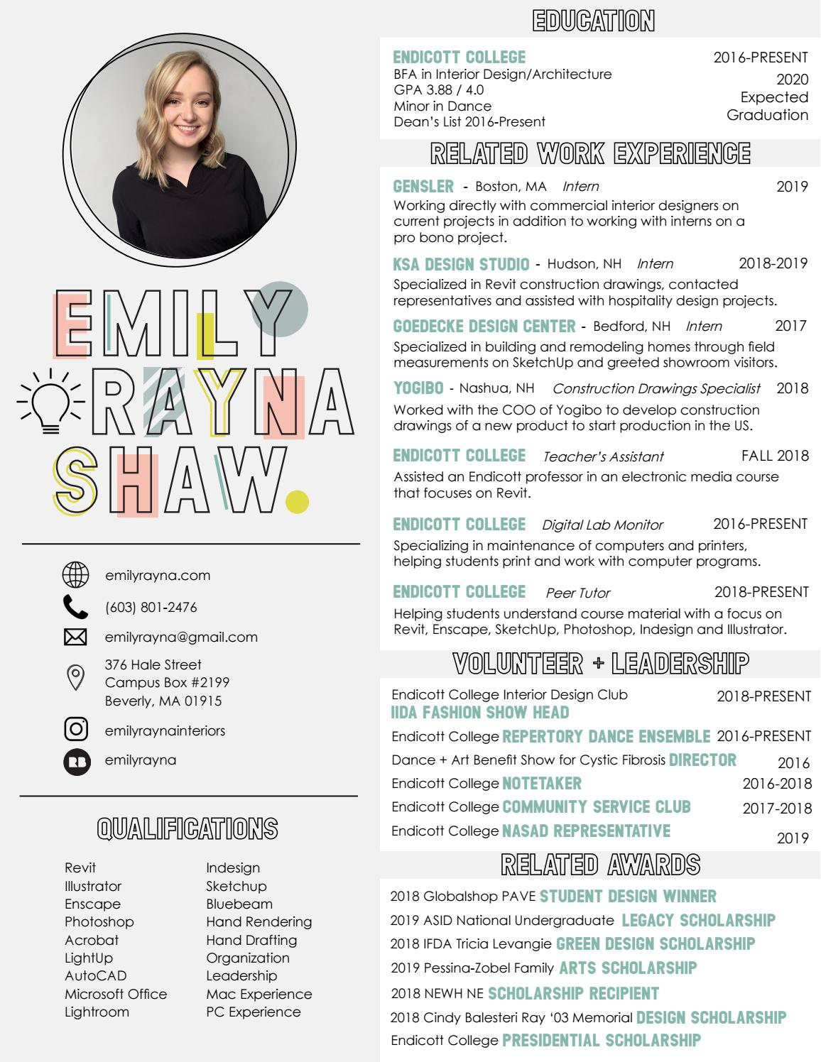 Emily Shaw 2019 Resume by emilyrayna - issuu