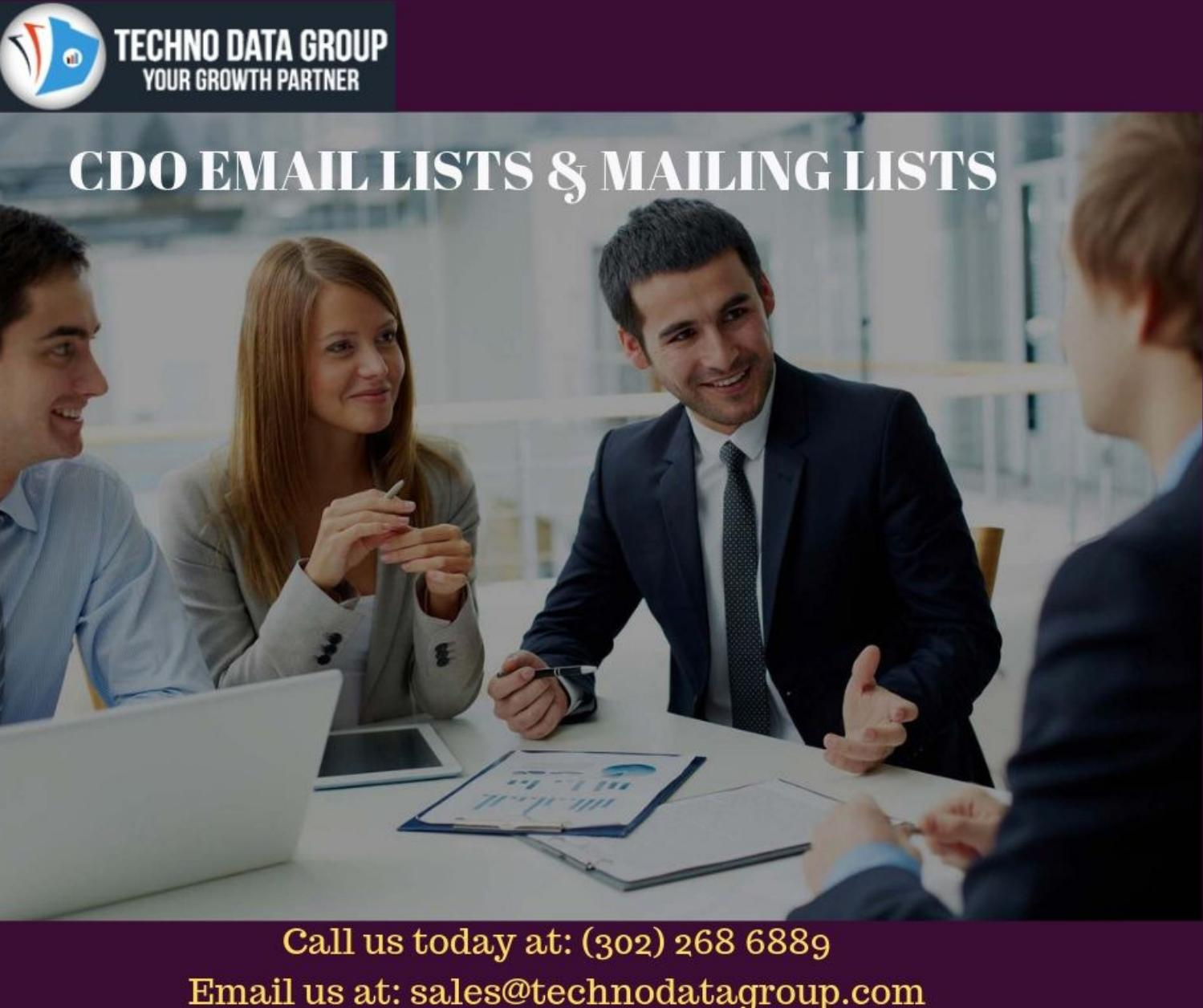 CDO Email Lists & Mailing Lists | Chief Data Officer Email Lists in